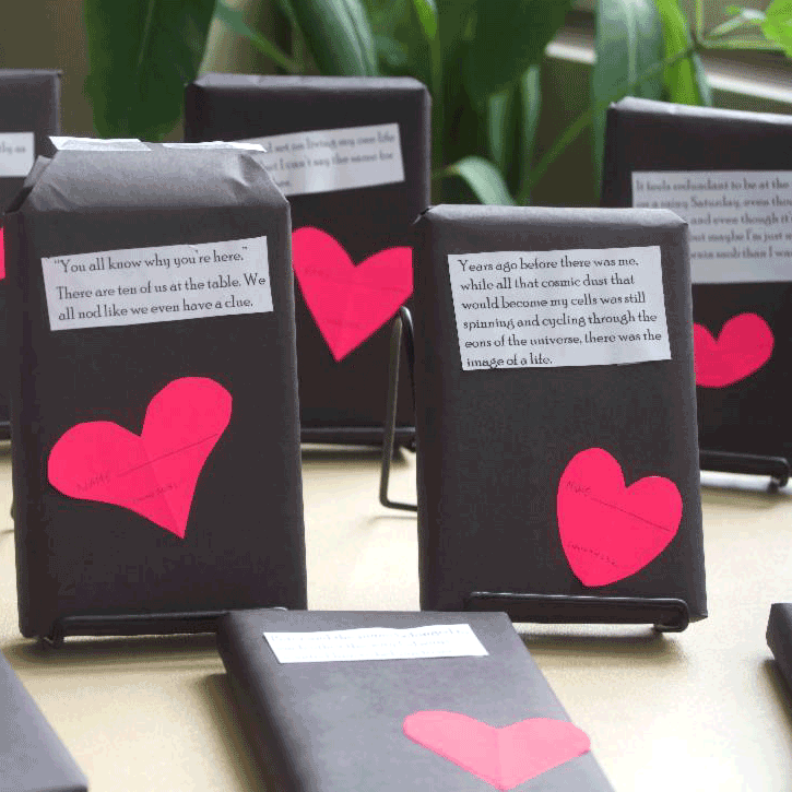 Hastings High School Library Setting Up Students on Blind Dates with Books