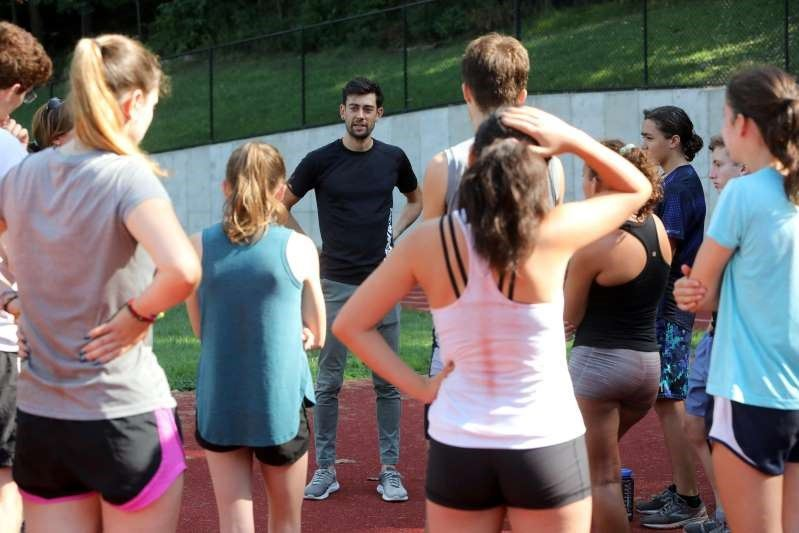 HHS Cross-Country Athletes Get Olympic Inspired Pep Talk
