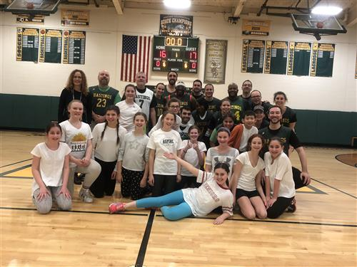 Students and Staff Face Off in Charity Basketball Game