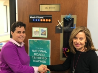 Ms. Perez Receives National Board Certification!